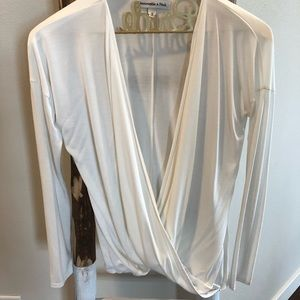 Abercrombie & Fitch Wrap Front Blouse | Small